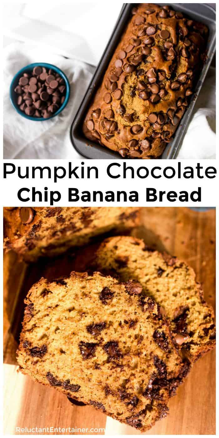 Pumpkin Chocolate Chip Banana Bread Recipe