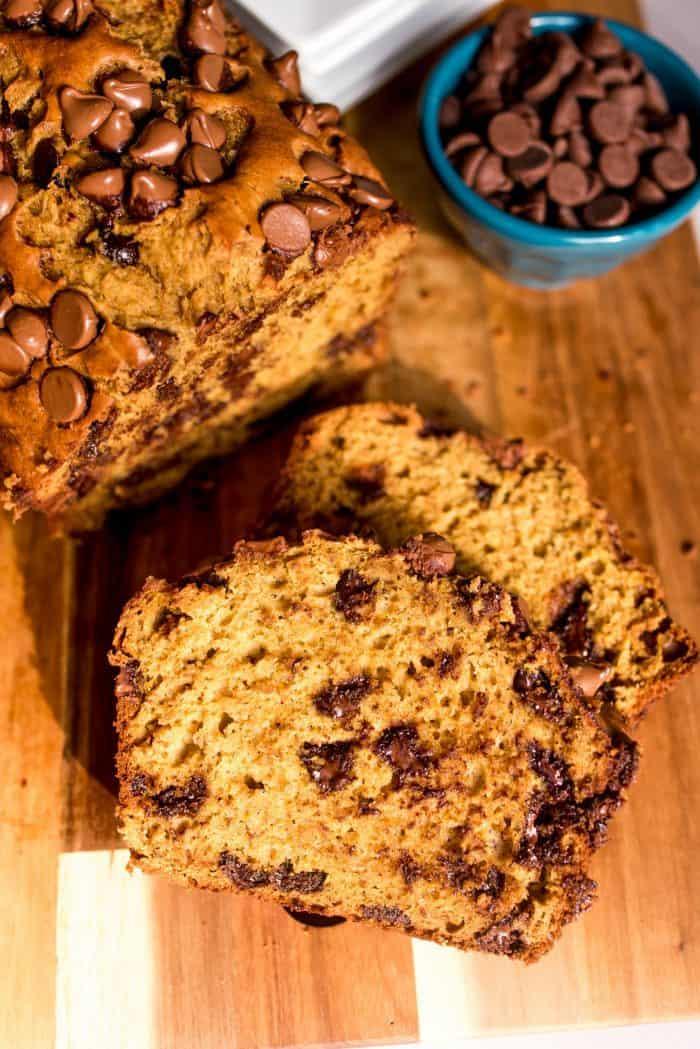 EASY Pumpkin Chocolate Chip Banana Bread