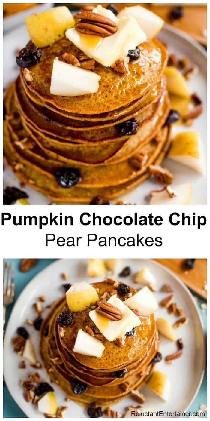 Pumpkin Chocolate Chip Pear Pancakes Recipe