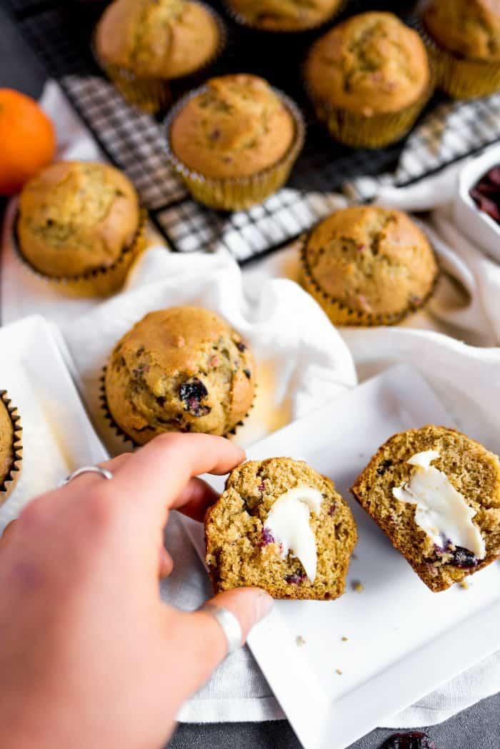 Easy Pumpkin Cranberry Muffin Recipe