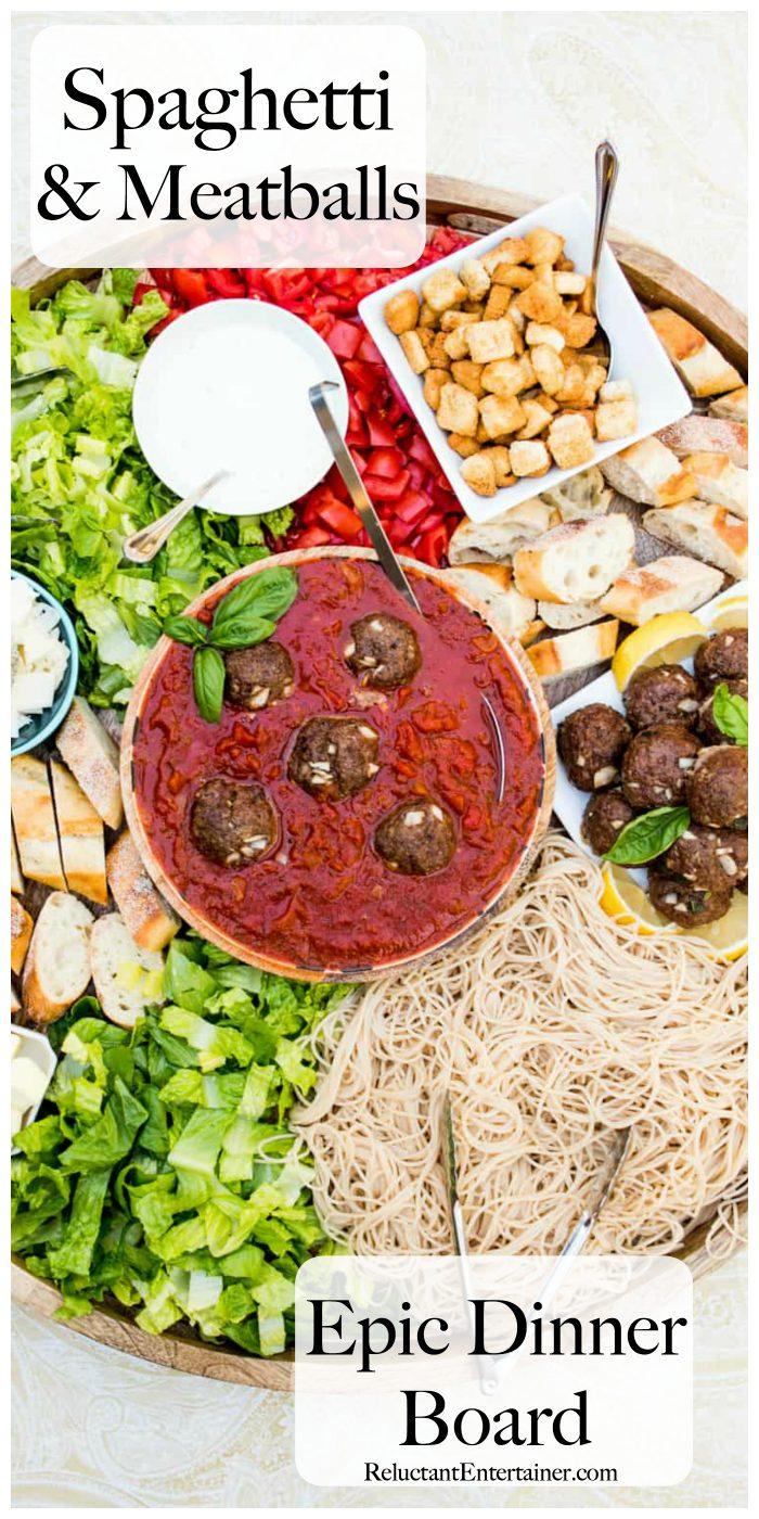 Spaghetti and Meatballs Epic Dinner Board Recipe