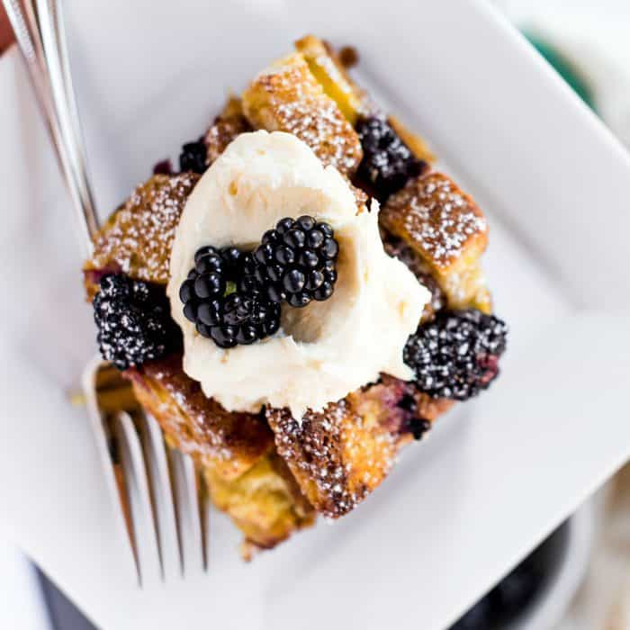 Tasty Lemon Blackberry Bread Pudding