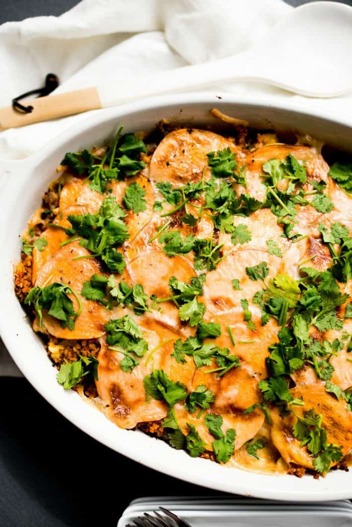 Mexican Sweet Potato Quinoa Casserole