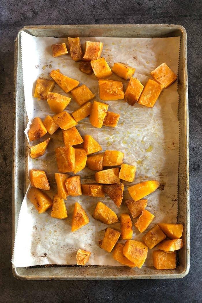 Pumpkin Spice Butternut Squash Charcuterie Board - already baked