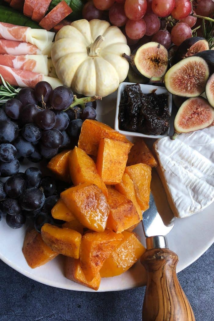 Pumpkin Spice Butternut Squash Charcuterie Board - for fall
