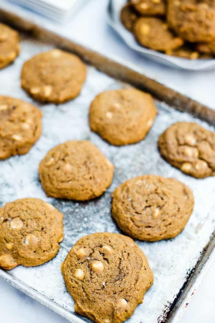 Best Pumpkin White Chocolate Chip Cookies