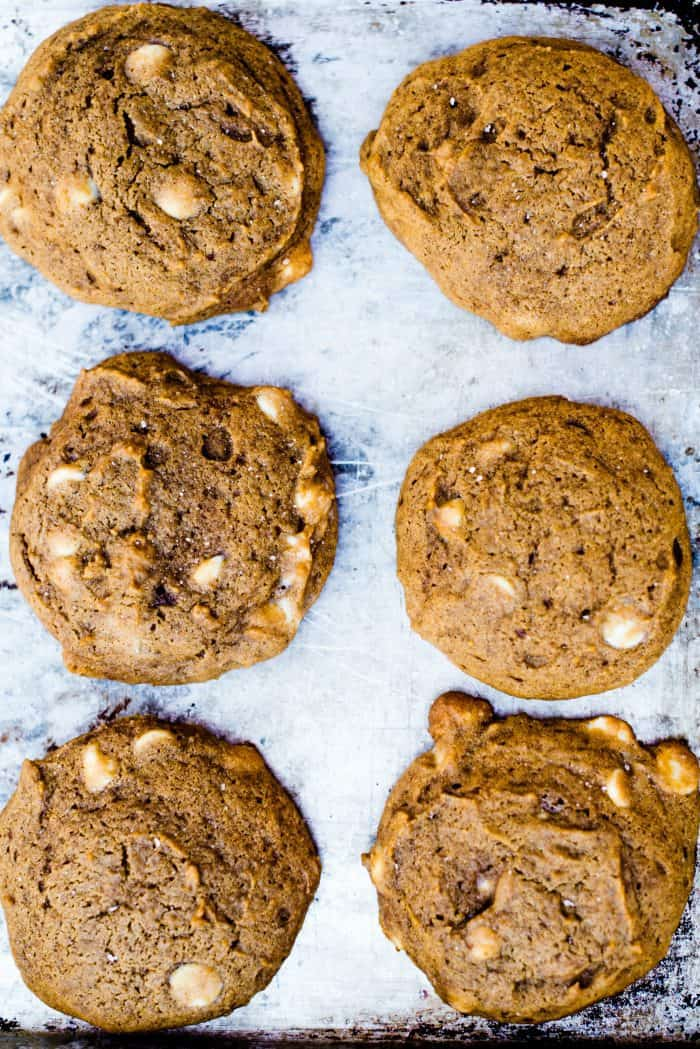 Tasty Pumpkin White Chocolate Chip Cookies
