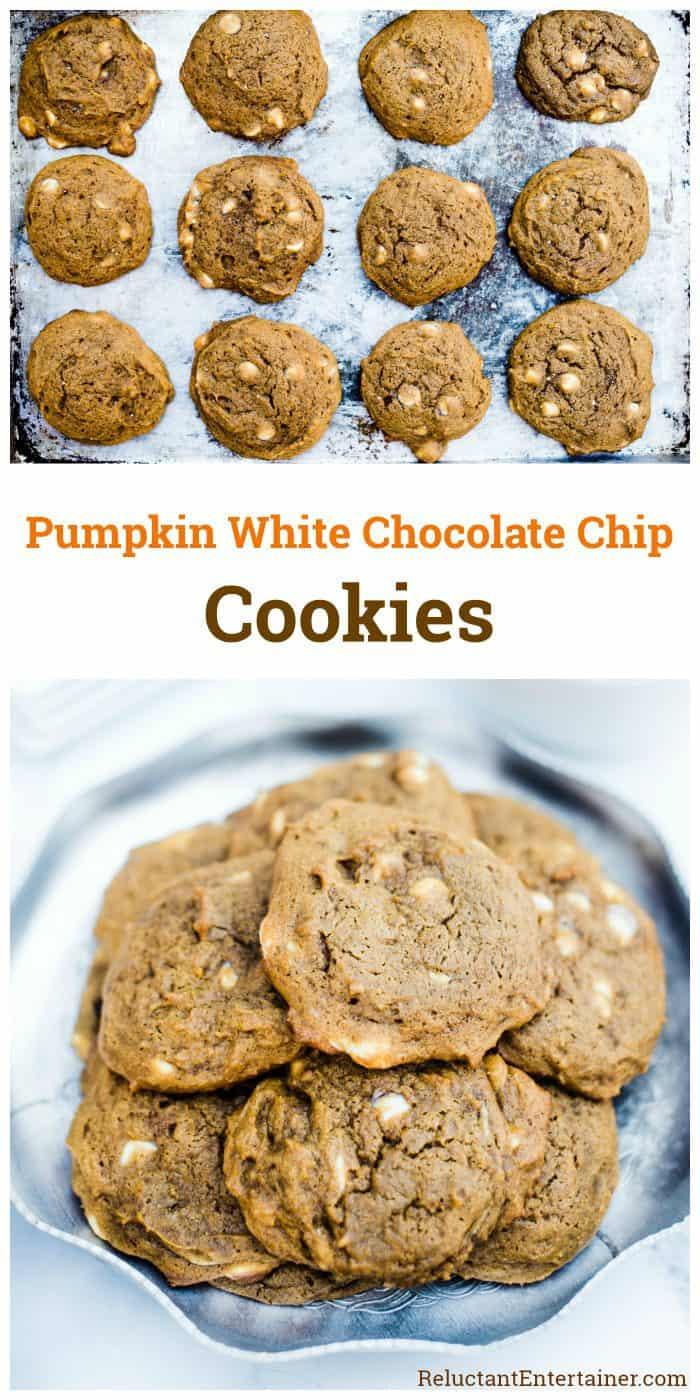 Pumpkin White Chocolate Chip Cookies Recipe