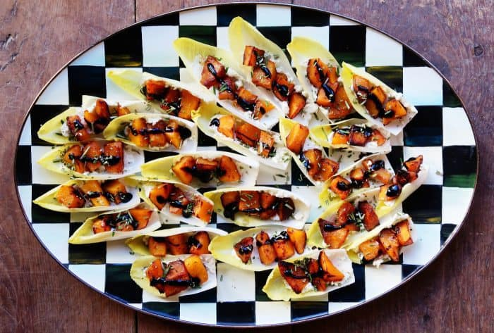 BEST Roasted Butternut Squash Endive Appetizer
