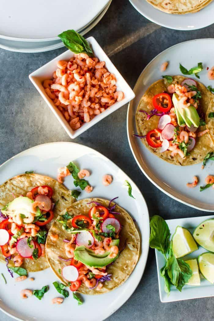 Best EVER Sweet Chili Shrimp Tacos