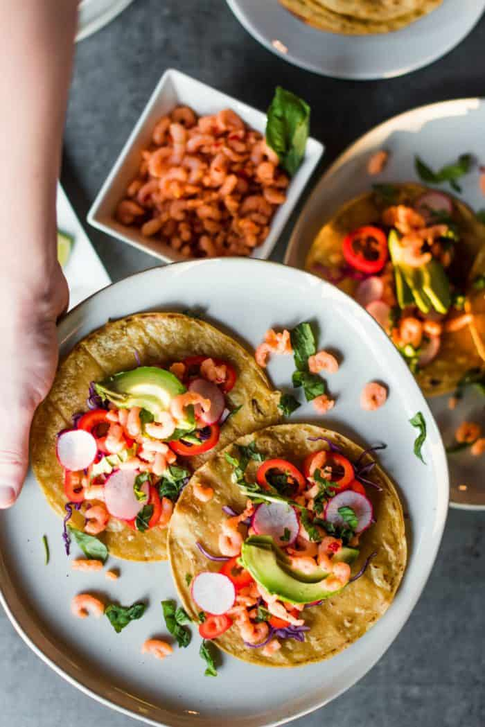 Tasty Sweet Chili Shrimp Tacos
