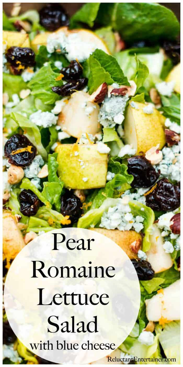 Pear Romaine Lettuce Salad with Blue Cheese recipe