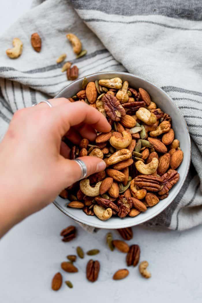 BEST Cinnamon Orange Roasted Nuts