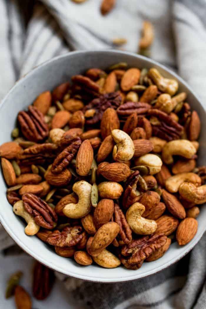 Easy Cinnamon Orange Roasted Nuts