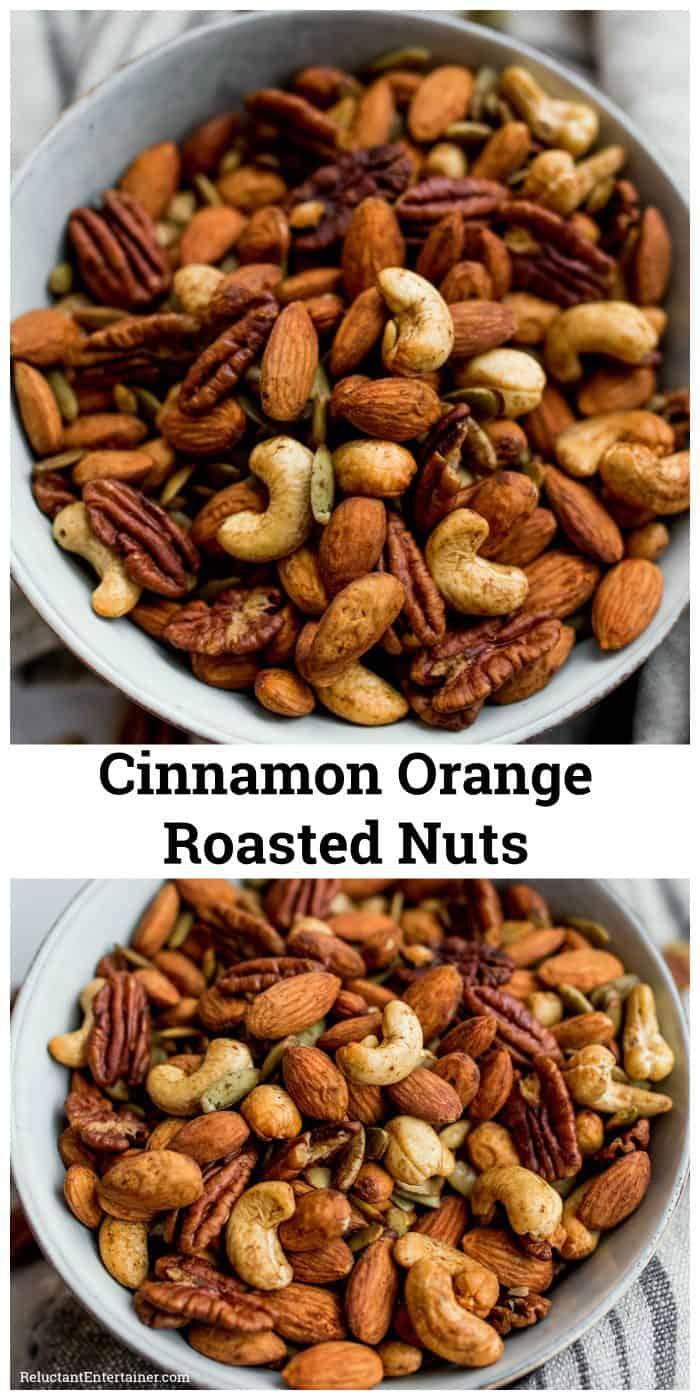 Cinnamon Orange Roasted Nuts with Vanilla