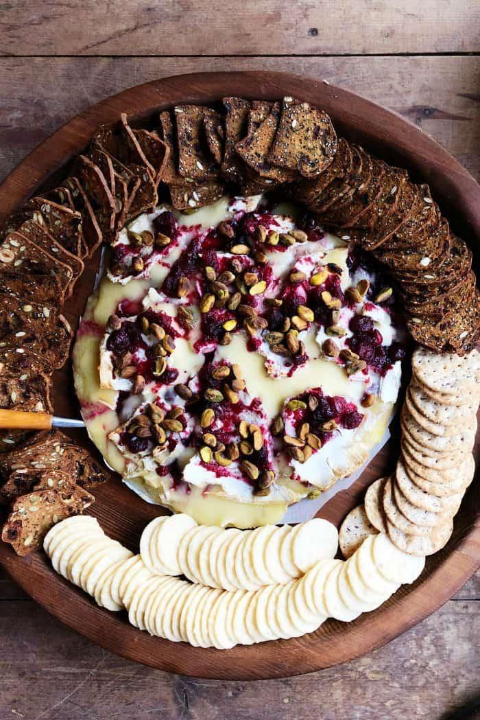 Cranberry Pistachio Brie Appetizer