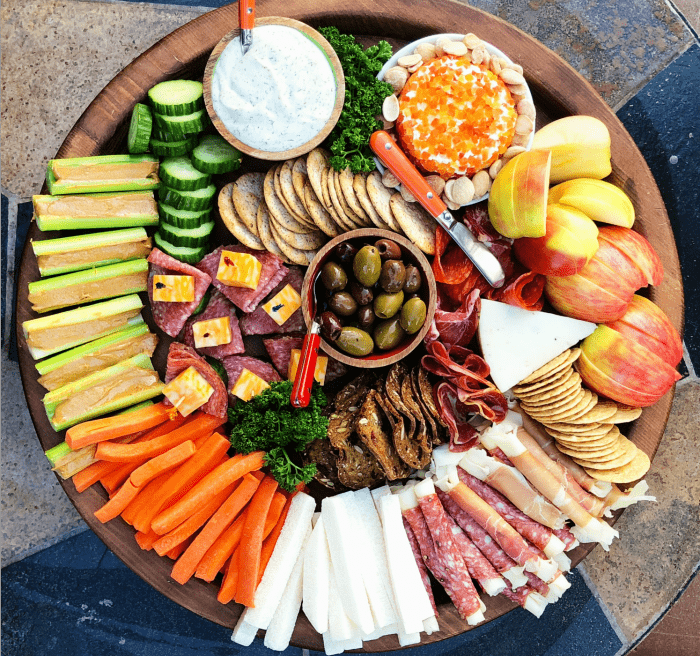 Kid-Friendly Charcuterie Board - Ranch dressing