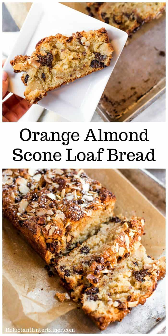 Orange Almond Scone Loaf Bread Recipe