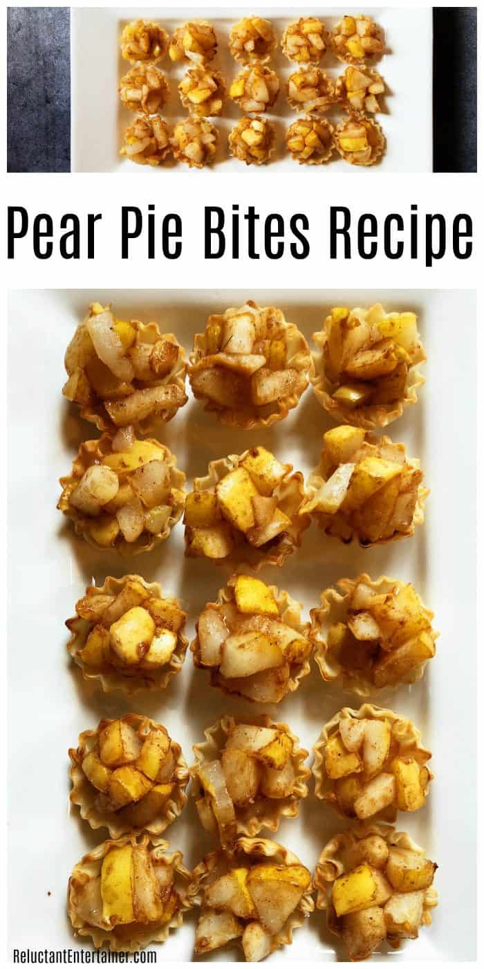 Easy delicious Pear Pie Bites Recipe