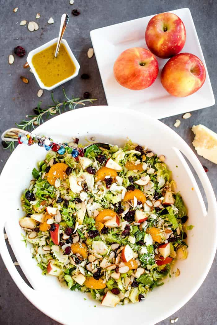 Shaved Brussels Sprout Salad with Vinaigrette