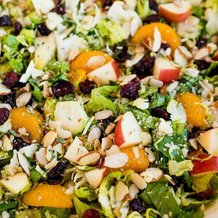 Best Shaved Brussels Sprout Salad with Vinaigrette