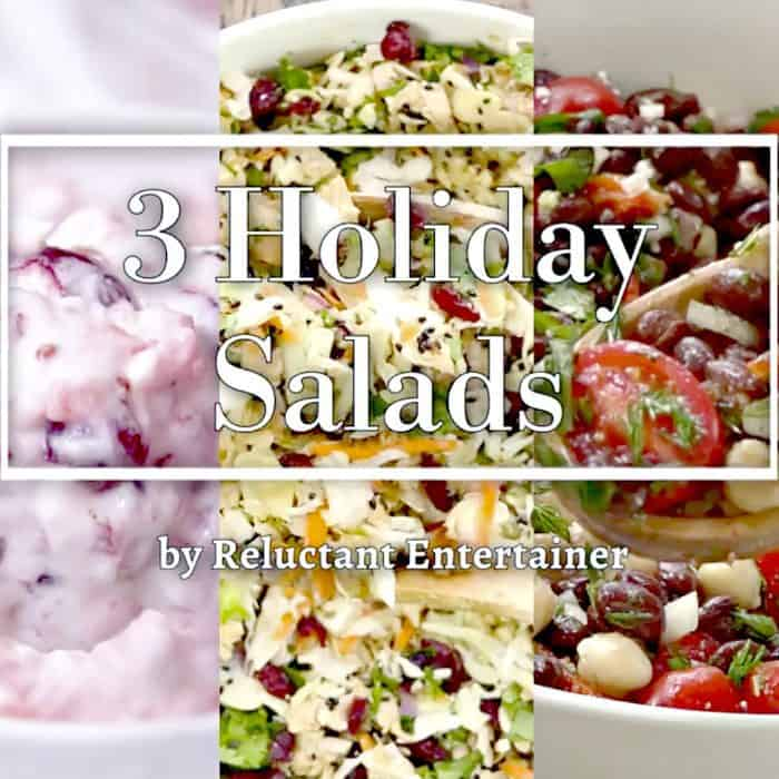 Christmas 3 Holiday Salads