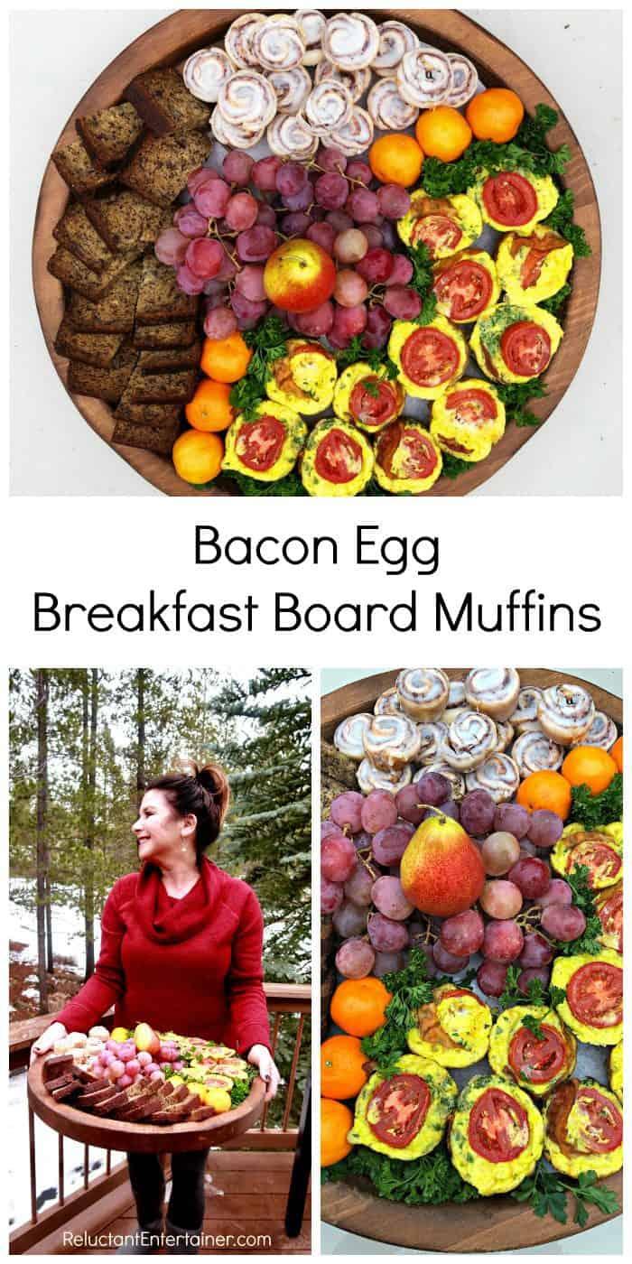 Bacon Egg Breakfast Board Muffins Recipe