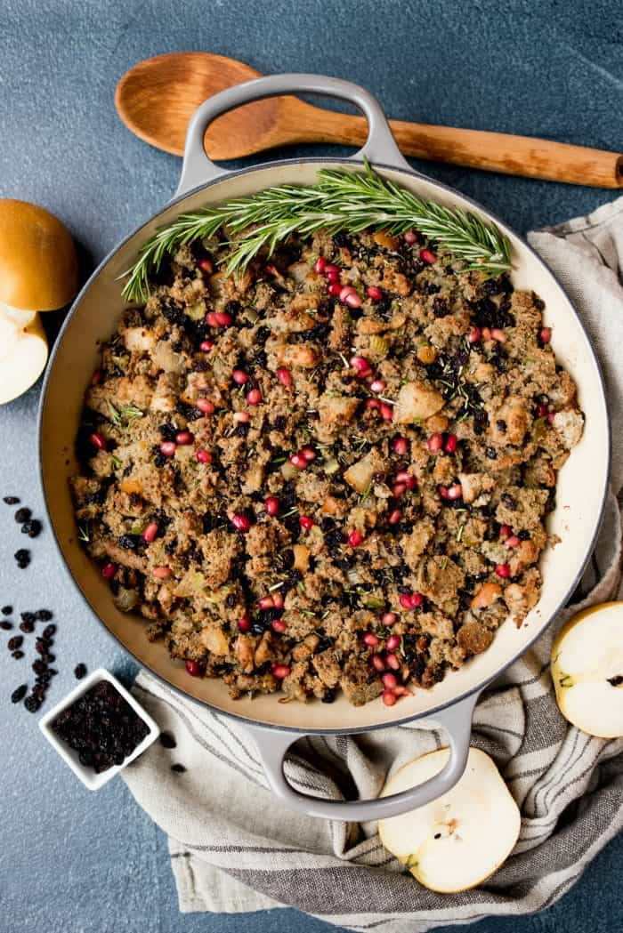 Blue Cornbread Asian Pear Sausage Stuffing