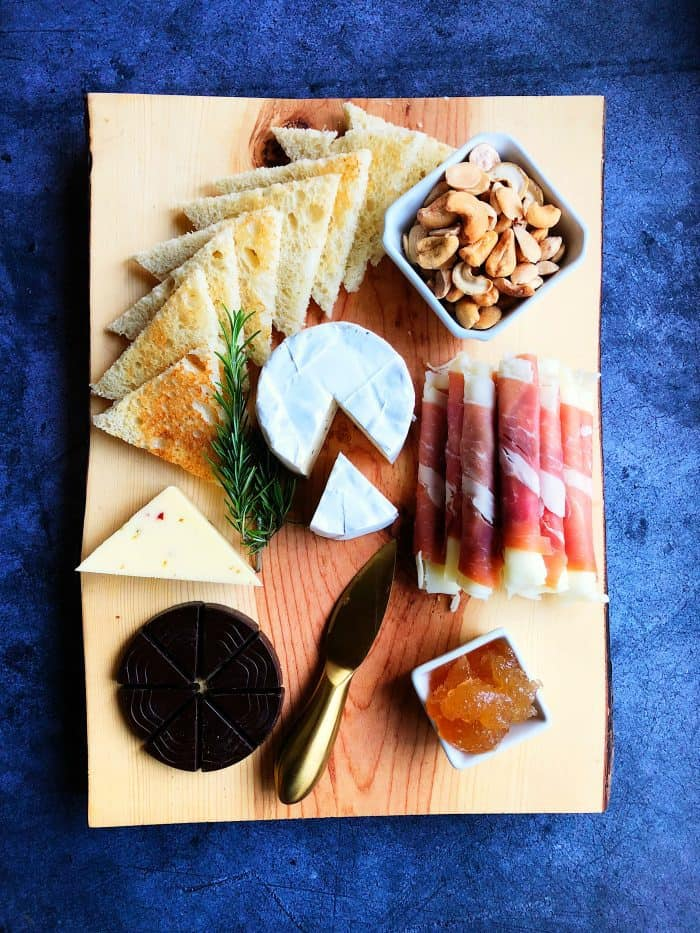 Cozy Minimalist Charcuterie Cheese Board