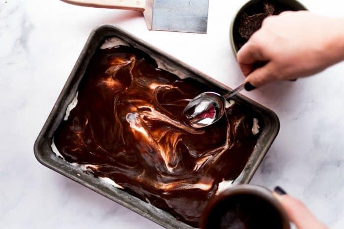 Frozen Peppermint Ice Cream Dessert - how to