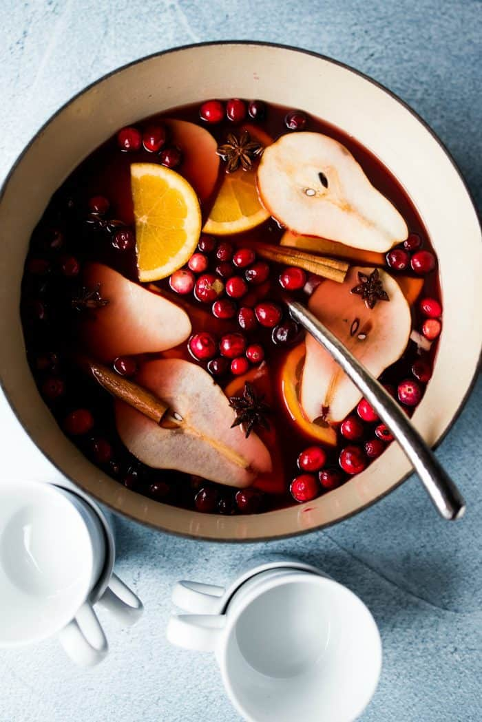 The BEST Holiday Pear Mulled Wine Recipe