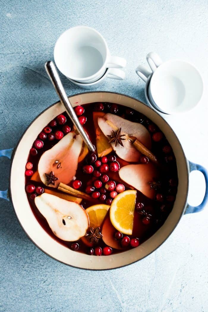 Holiday Pear Mulled Wine Recipe