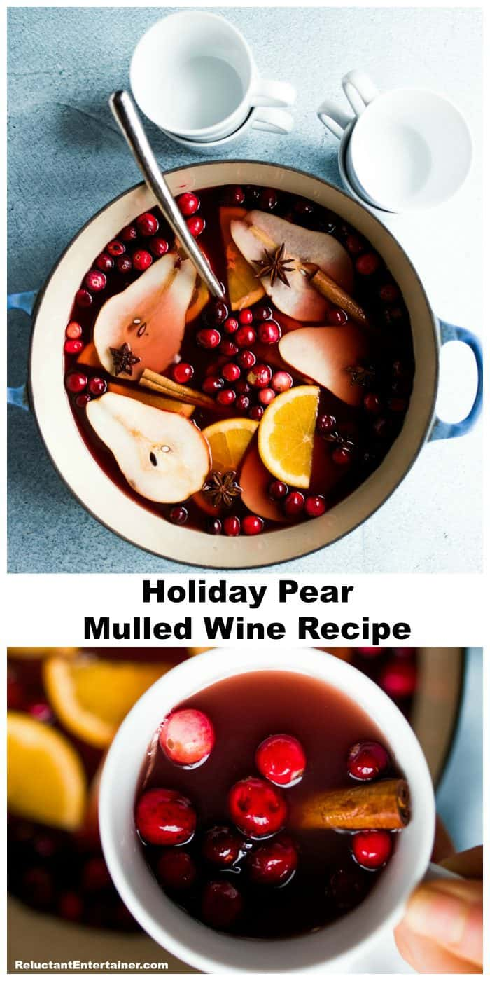 Holiday Pear Mulled Wine