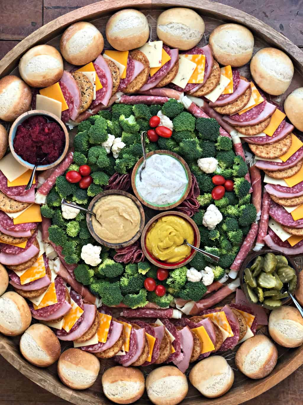 Party Ham Rolls Charcuterie Board Reluctant Entertainer