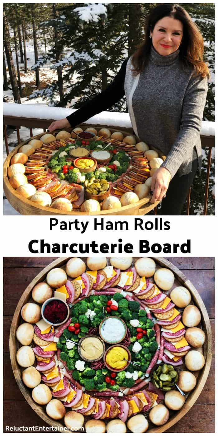 Party Ham Rolls Charcuterie Board Recipe