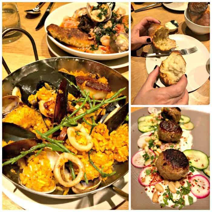 Seattle Kimpton Palladian Hotel - Shaker + Spear dinner