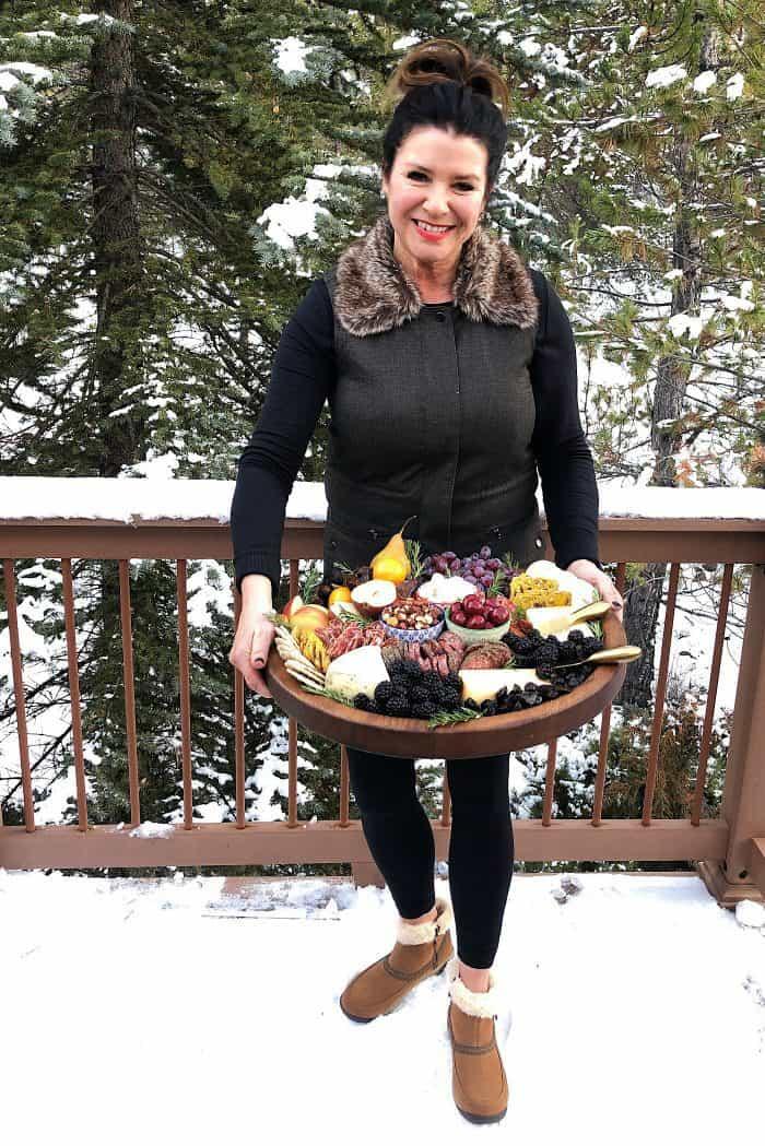 Tasty Winter Rustic Charcuterie Board