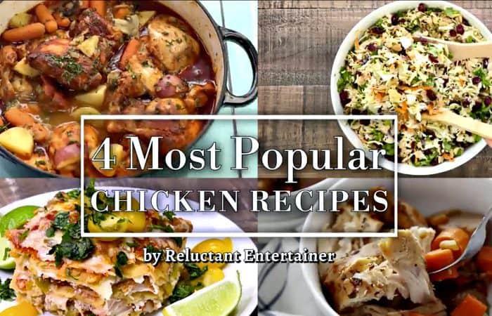 4 Most Popular Chicken Recipes