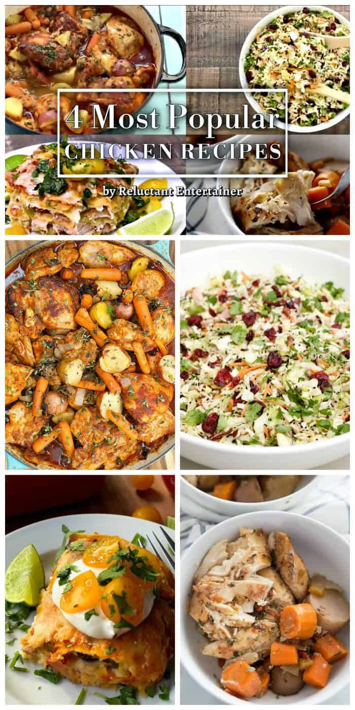 4 Most Popular Chicken Recipes - Reluctant Entertainer
