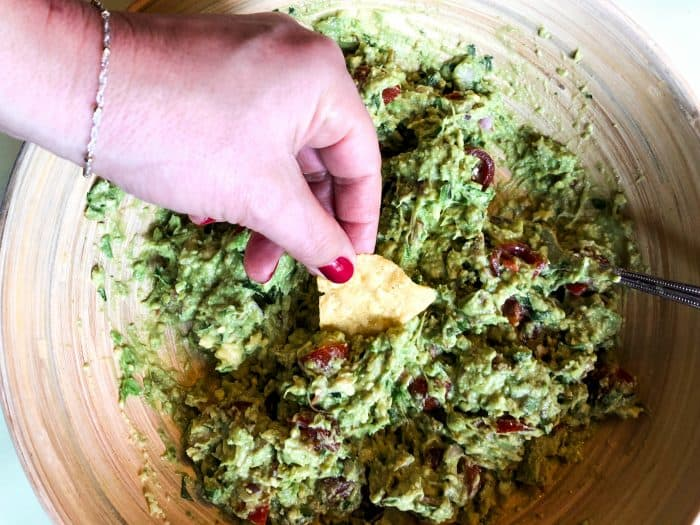 Best Bacon Guacamole Recipe with chips