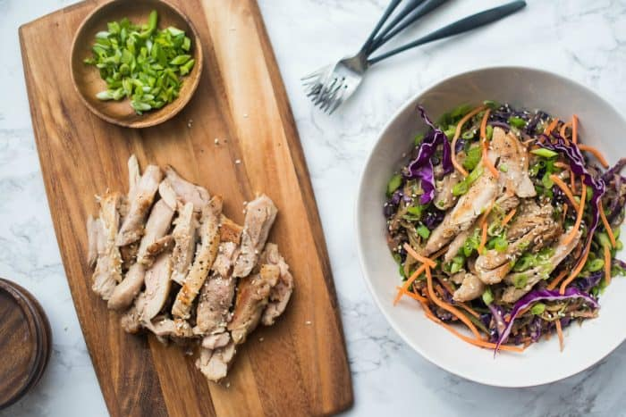 Chicken Pad Thai Noodle Bowl - Reluctant Entertainer