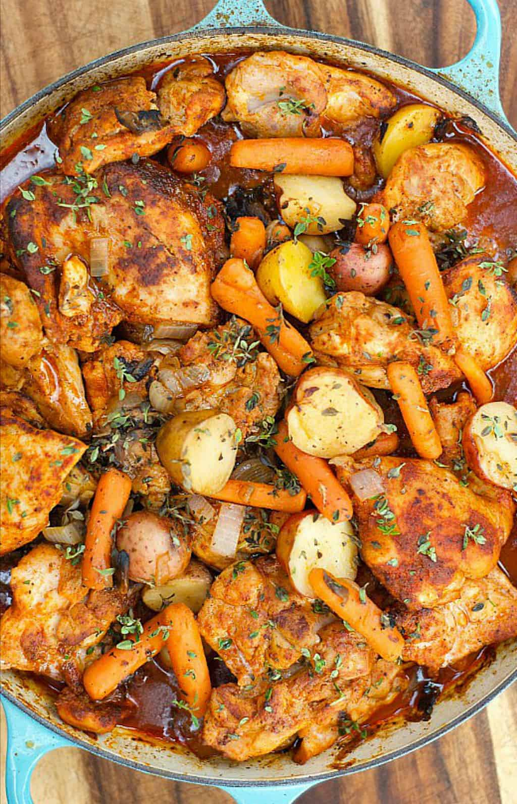 One Pot Paprika Chicken Thighs Reluctant Entertainer