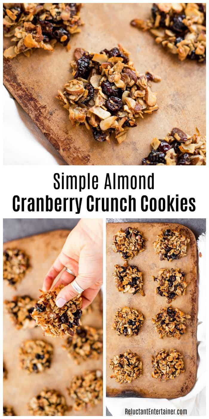 Simple Almond Cranberry Crunch Cookies Recipe