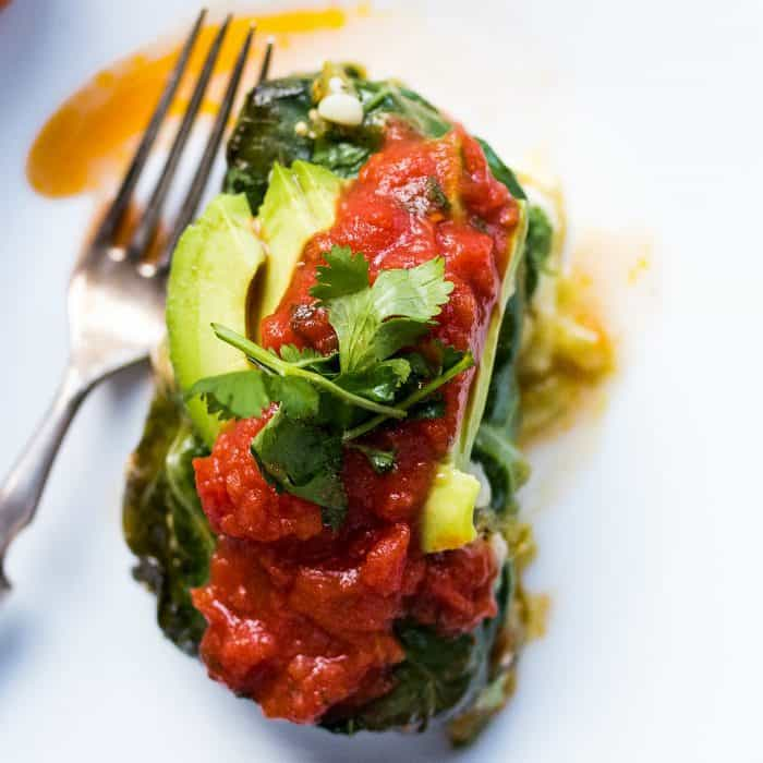 Sweet Potato Collard Green Enchilada