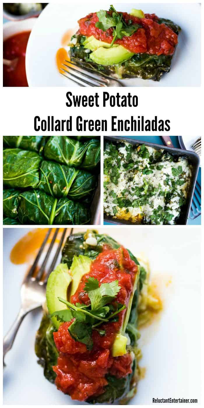 Sweet Potato Collard Green Enchiladas Recipe