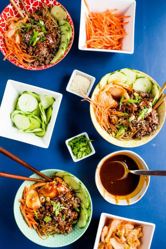 The BEST Healthy Korean Beef Bowls