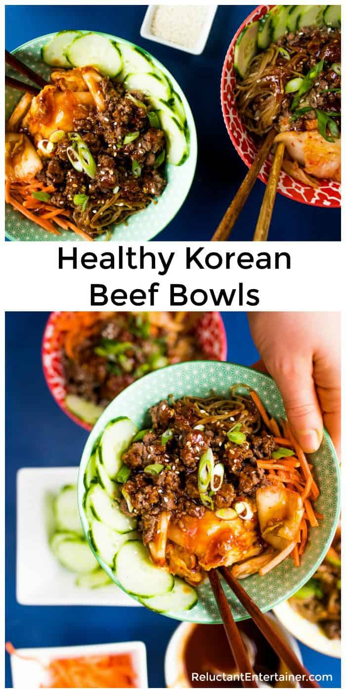 Healthy Korean Beef Bowls Recipe