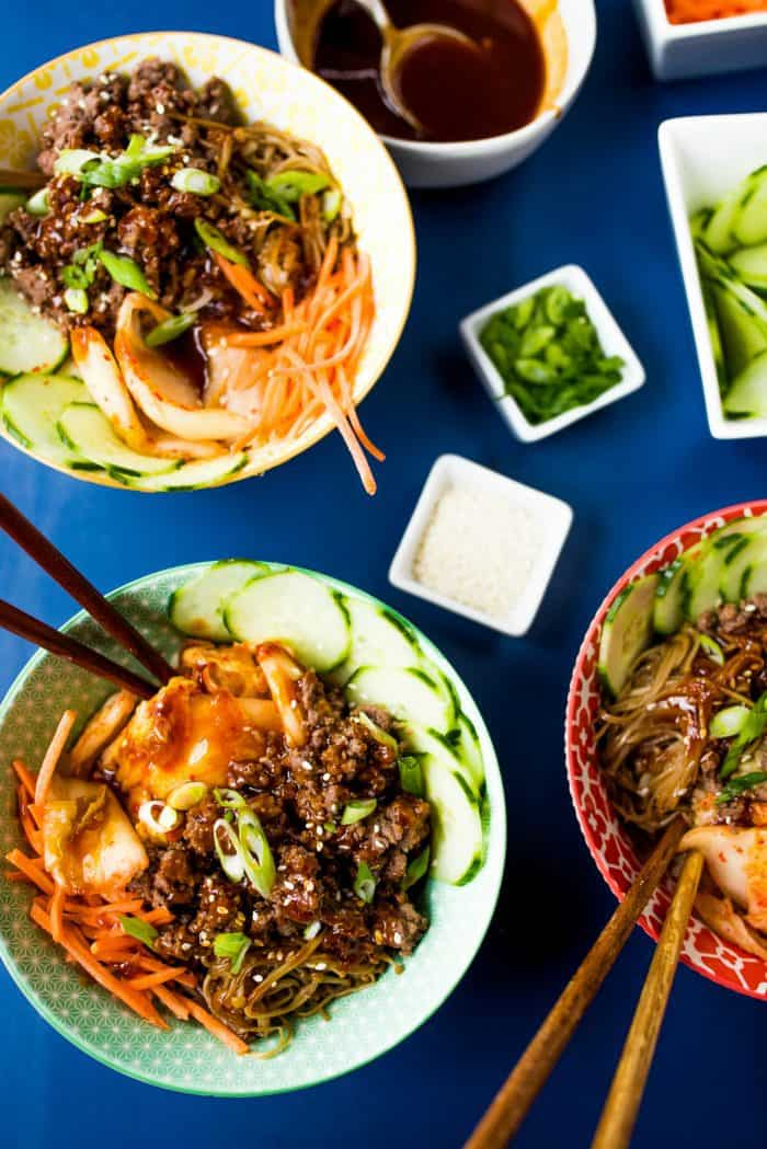 Super Easy Healthy Korean Beef Bowls
