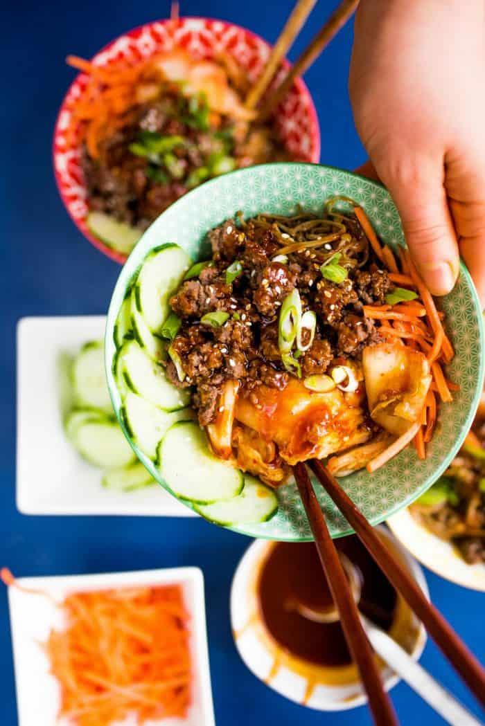 Scrumptious Healthy Korean Beef Bowls