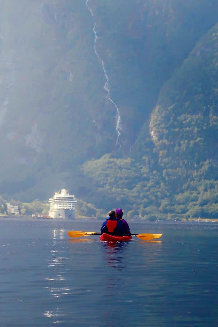 Homelands Viking Cruise Excursions Norway - kayaking to ship